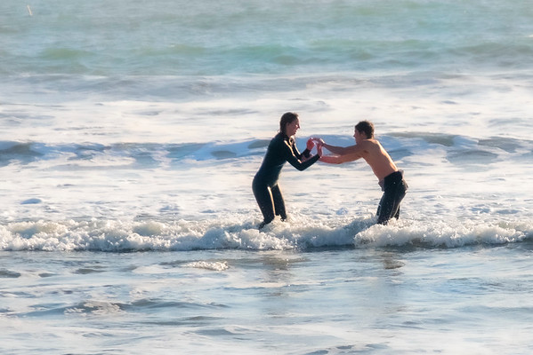 Surfer at Doran Beach