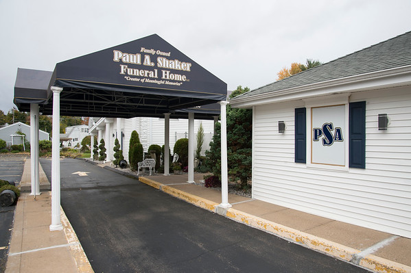 10/17/19 Wesley Bunnell | StaffrrPaul A. Shaker Funeral Home on Farmington Ave. in New Britain.