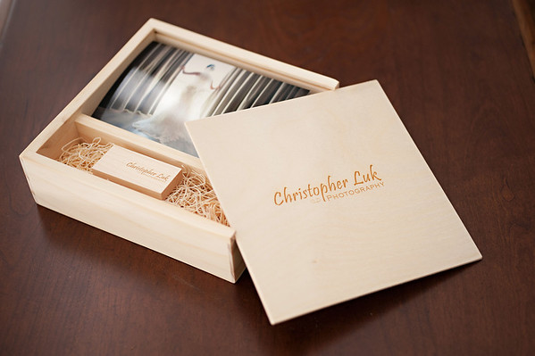 Boutique Packaging & Branding - 4x6 Photo Print and Flash Drive Maple Square Box