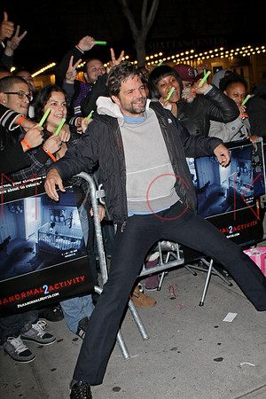 """NEW YORK - OCTOBER 20:  The """"Paranormal Activity 2"""" screening at AMC Loews 34th Street 14 theater on October 20, 2010 in New York City."""