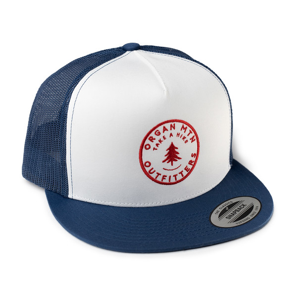 Outdoor Apparel - Organ Mountain Outfitters - Hat - Take A Hike Trucker Cap - Navy White Red.jpg