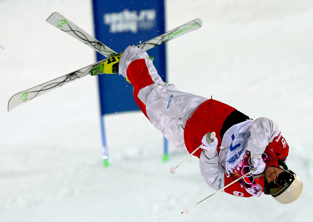 . Marc-Antoine Gagnon of Canada in action during  the Freestyle Skiing Men\'s Moguls Qualification 1 at the Sochi 2014 Olympic Games, Krasnaya Polyana, Russia, 10 February 2014.  EPA/JENS BUETTNER