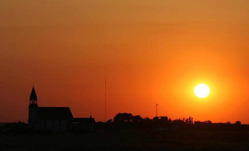 Sunset, Salina, Kansas.