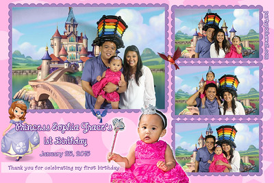 Sophia Grace's 1st Birthday (Multi-Photo Collage)
