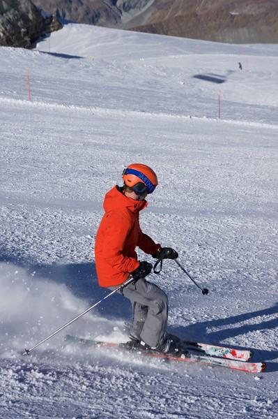 Matt skiing down Furgsattel
