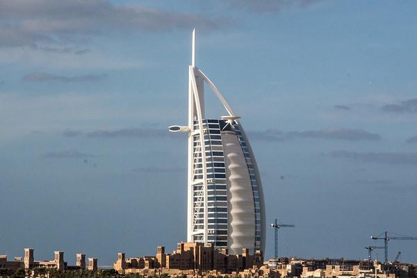 Drinks at Burj Al Arab, the most luxurious 7 star hotel, Dubai - January, 2016