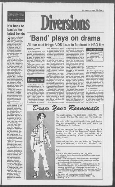 Daily Trojan, Vol. 121, No. 10, September 14, 1993