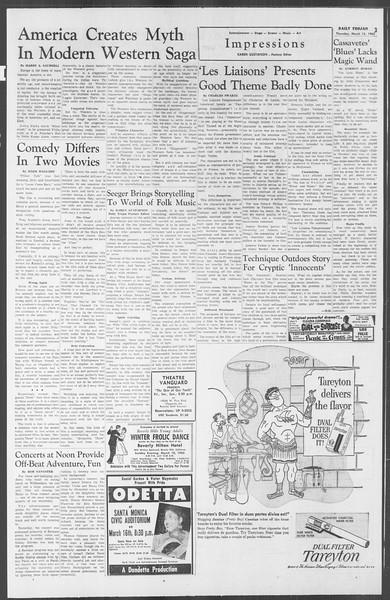 Daily Trojan, Vol. 53, No. 89, March 15, 1962
