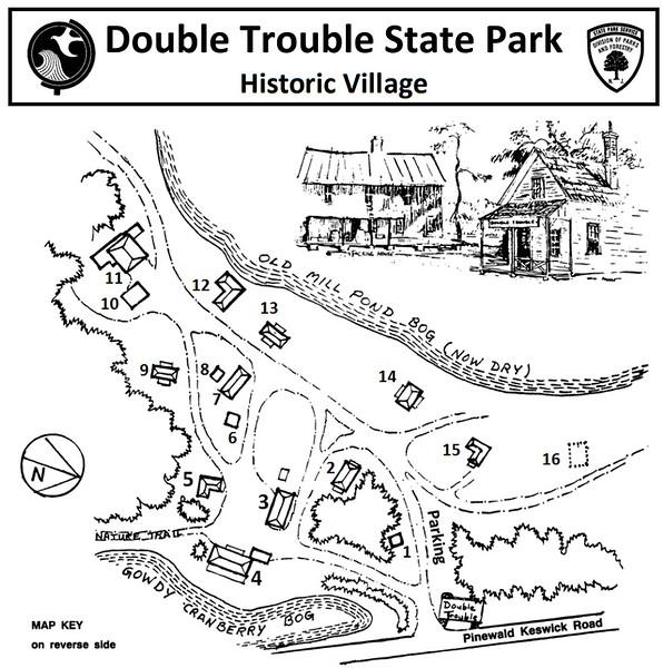 Double Trouble State Park (Historic Village Map)