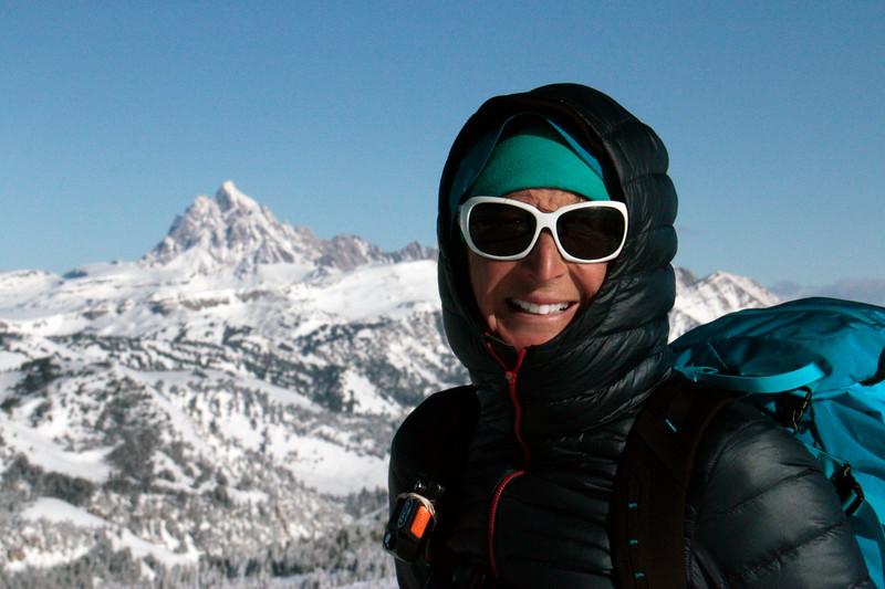 Early season skiing on Teton Pass, WY