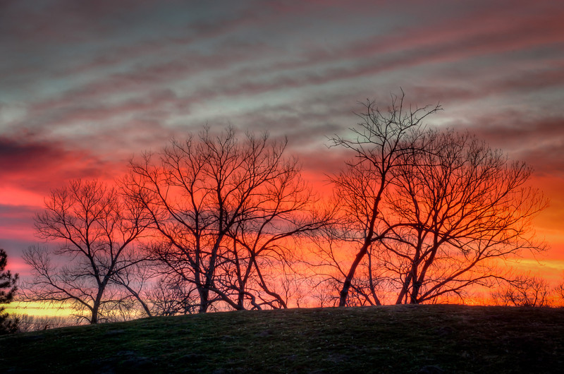 Sunset colors at Sedgwick County Park, Wichita, Ks.