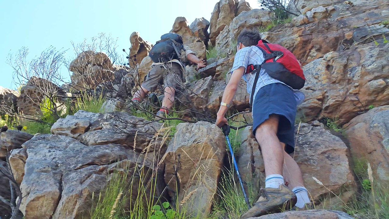 Clive and Ralph leading at Silvermine