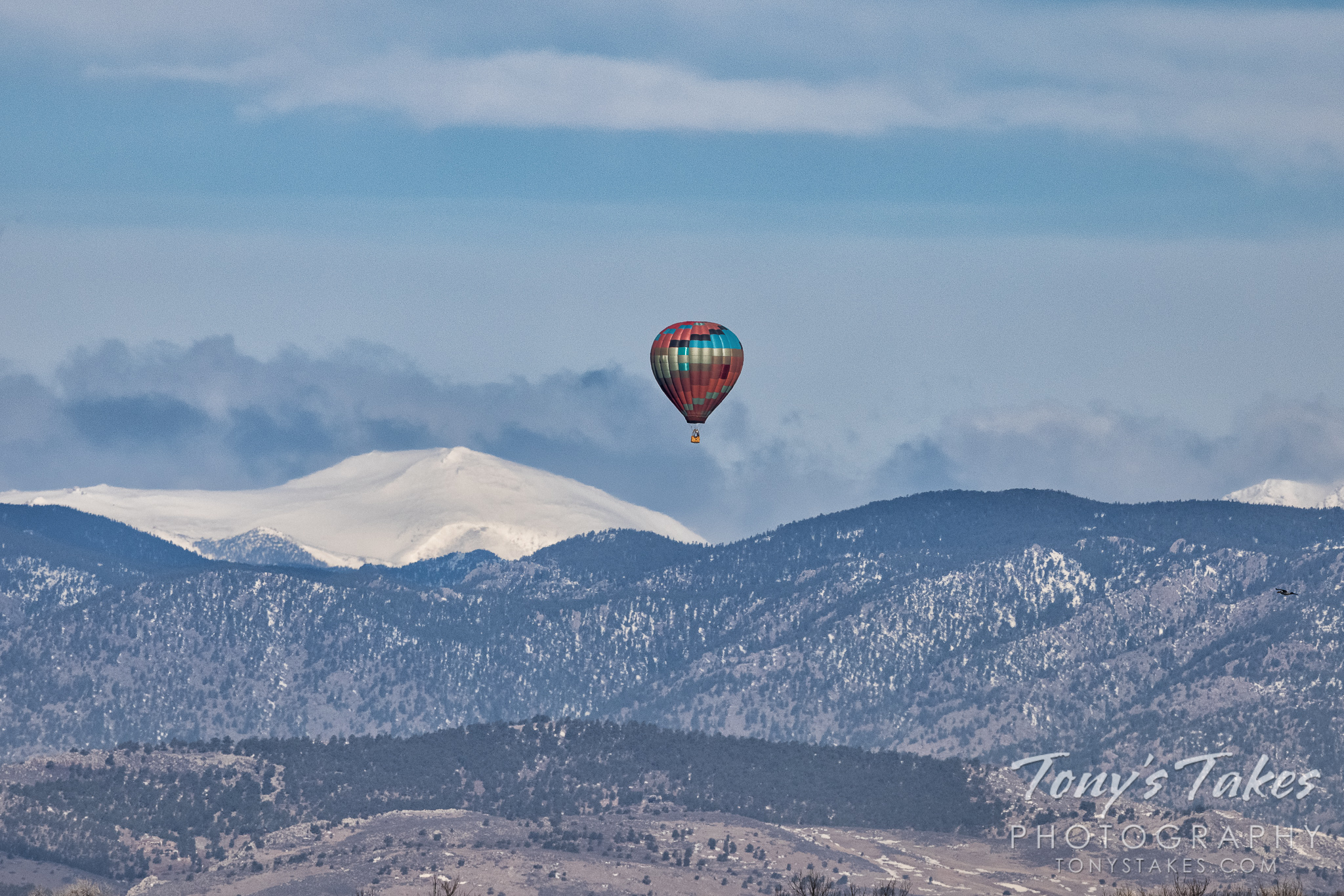 Rocky Mountain high in a hot air balloon