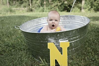 Splish Splash 6 months old!