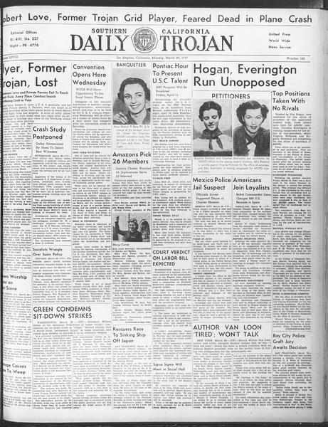 Daily Trojan, Vol. 28, No. 103, March 29, 1937