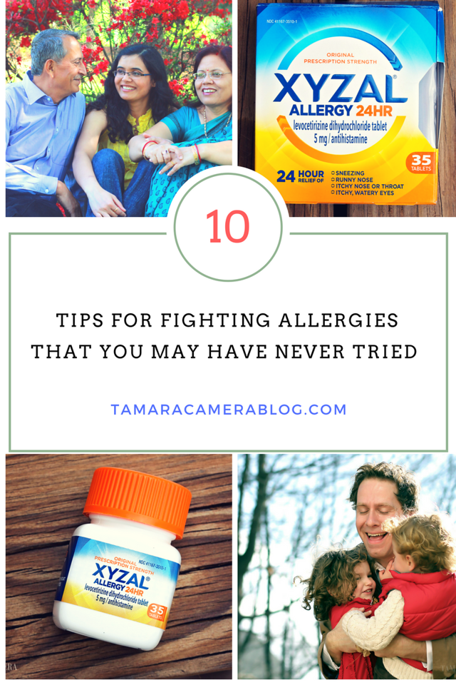 Do you have spring allergies? Us too! Here are 10 ways to combat allergies that you may have never tried. Time to enjoy #spring again! #ForgetAllergies #ad