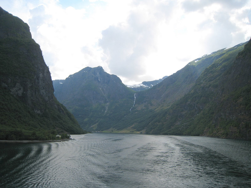 Beautiful Fjords as we leave Flam heading for Gudvangen