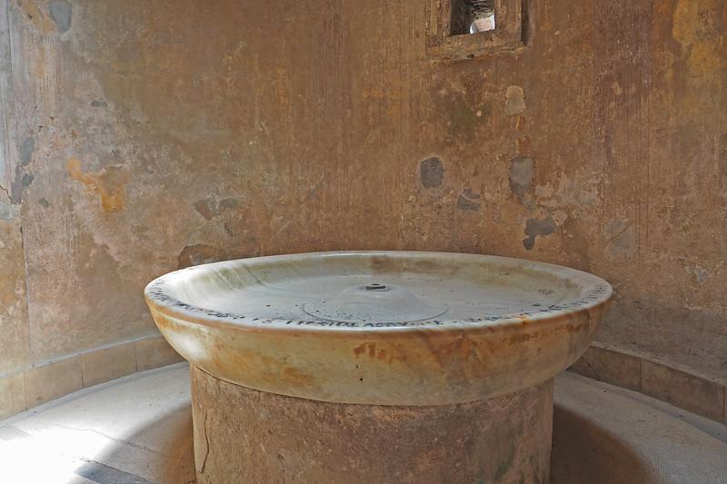 Inside a Pompeii bath