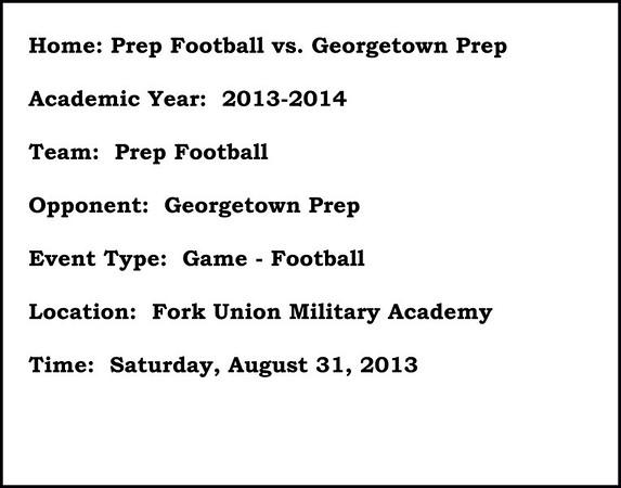 Prep Football vs Georgetown Prep