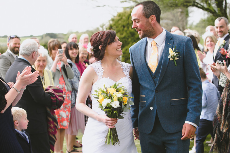 Spring wedding in Cornwall