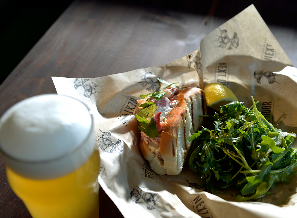 . DENVER, CO - JULY 10:   Denver\'s  renovated Union Station will soon reopen. They showed off some of the new facility on Thursday, July 10, 2014. The lobster roll from The Kitchen Next Door Community Pub which is one of the new restaurants at the station.   (Denver Post Photo by Cyrus McCrimmon)