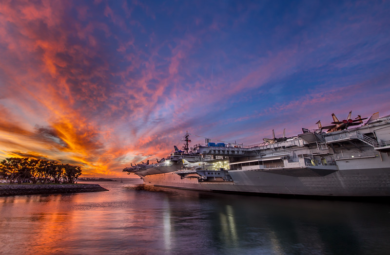 USS Midway Lit Up