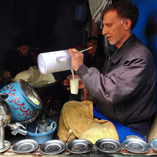 The lassi man of old town Leh. His secret sits in the blue bowl: freshly made yogurt every AM. #phenomenalassi #Ladakh