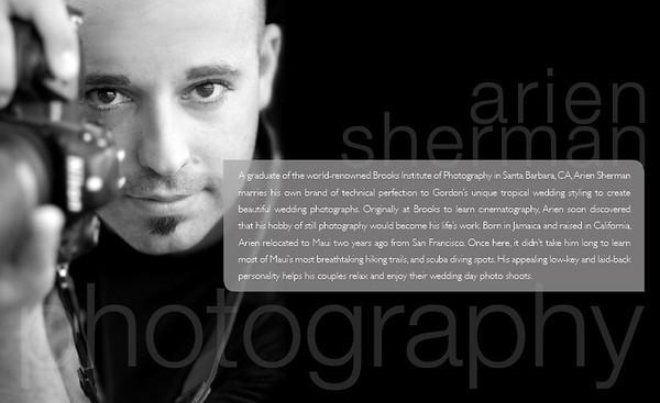 Arien Sherman, Maui Wedding Photographer