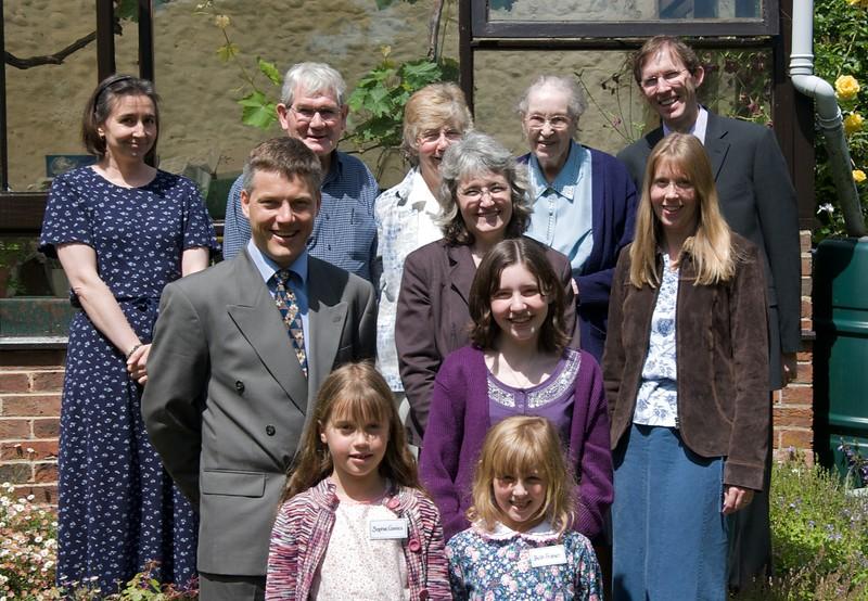 Rose, Roy, Jan, Gecca, David F, David C, Helen, Joy, Sarah, Sophie, Beth