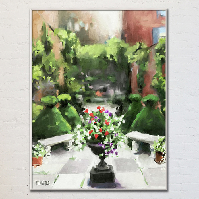 The Secret Garden art print painting print on canvas by Beverly Brown. - https://www.beverlybrown.com