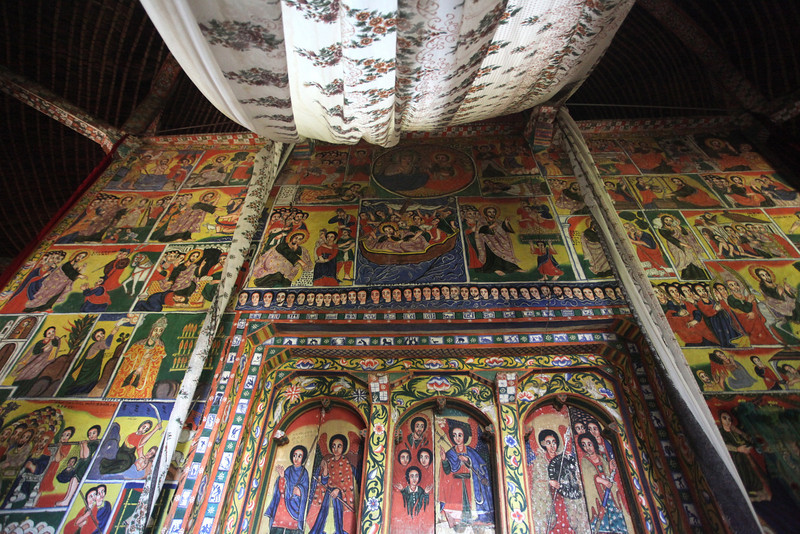 Ura Kidane Mehret  Ethiopian Orthodox Church 14th Century Lake Tana Zeghie Peninsula near Bahar Dar Ethiopia (1 of 4)