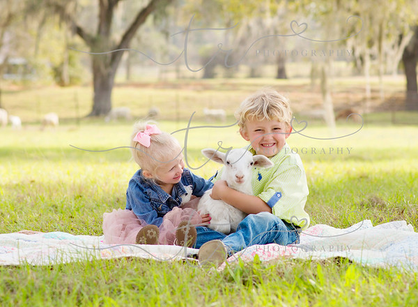 Corbin and Anabelle~Little Lamb