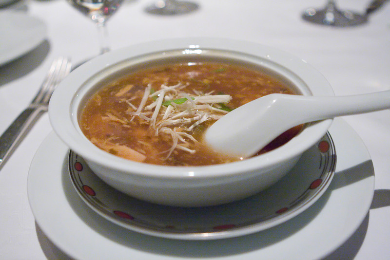 Hot and sour soup was excellent.  It was just the right mix of hot and sour.