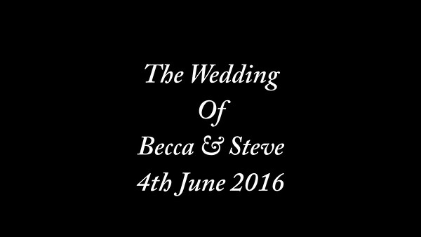Becca & Steve wedding video