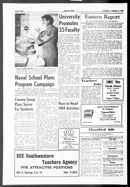 Summer News, Vol. 11, No. 12, August 02, 1956
