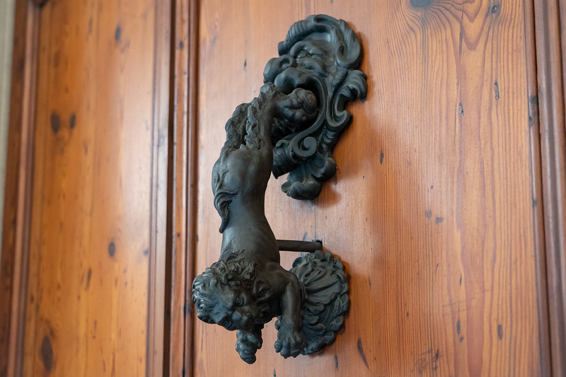Lion door knocker in Bologna