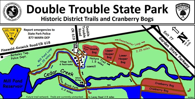 Double Trouble State Park (Historic District Trails & Cranberry Bogs)