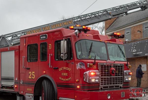 Detroit MI, Commercial Fire - 1-25-2020