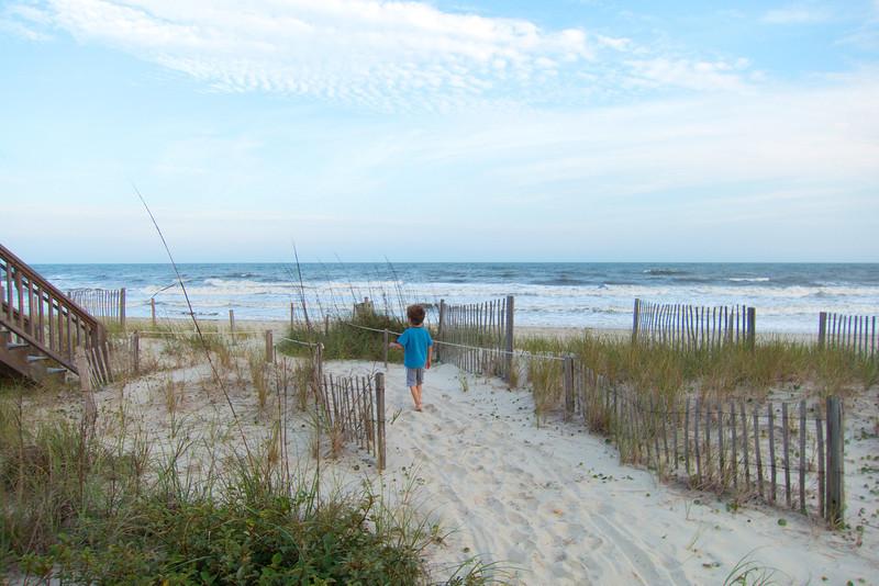 First walk to the beach