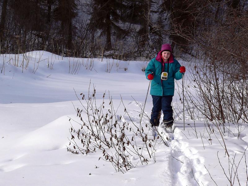Alina, March skiing,  .JPG