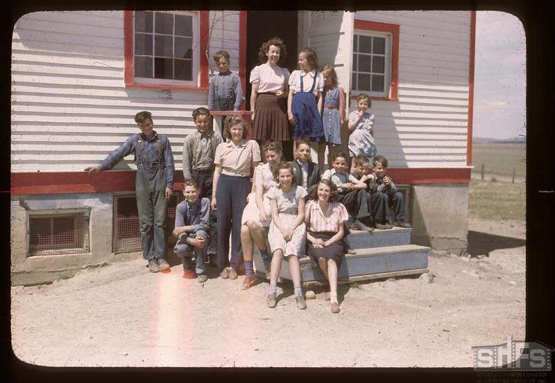 Highway School & Teacher - 2 Wheat Pool members in district Cadillac 06/05/1946