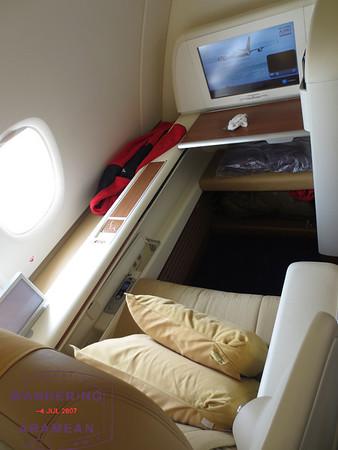 Thai A380 first class from Hong Kong