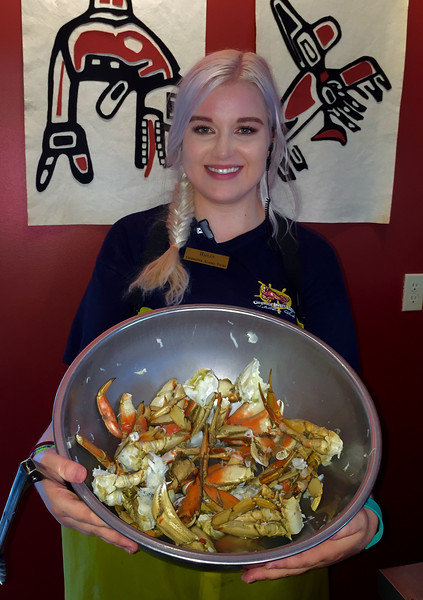 Huge bowl of Dungeoness Crab at George Inlet Lodge