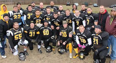 Turkey Bowl Football Game, Judges, Ginther Field, Summit Hill (11-22-2014)