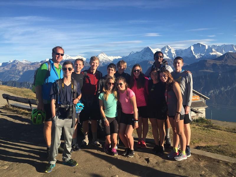 The Bern bike trip on the top of Niederhorn