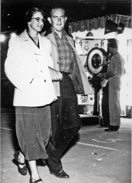 Maria Jacob and Rip Smock at the Shrine Circus  November 14, 1949