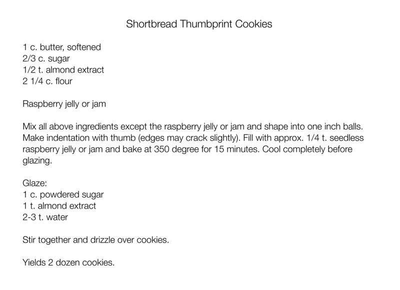 Almond-Raspberry Thumbprint Cookies