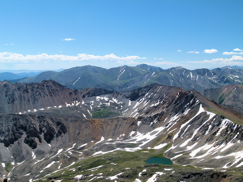 Four 14ers to the South:  Harvard, Belford, Missouri and Oxford (we've climbed the first three)