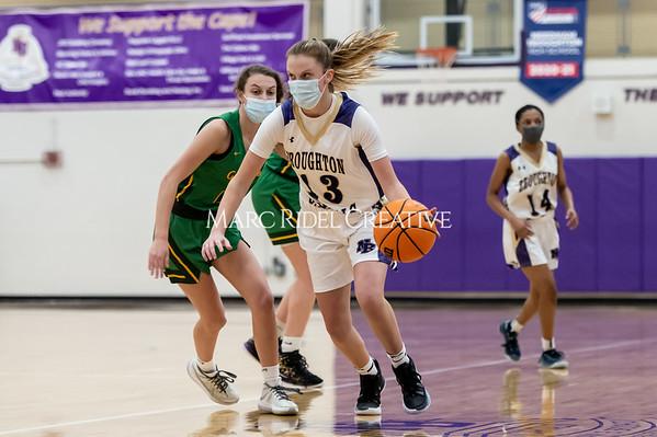 Broughton girls varsity basketball vs Cardinal Gibbons. February 16, 2021