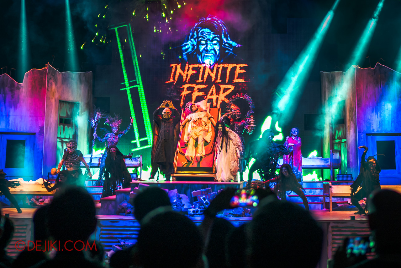 Universal Studios Singapore Halloween Horror Nights 8 - Infinite Fear Opening Scaremony Icons appear